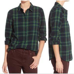 •MADEWELL• Ex-boyfriend Barlow Plaid Shirt Flannel